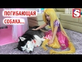 СПАСЕНИЕ СОБАКИ Девочка плачет Как мама Видео для детей! ATTACKS Kids Princess Rapunzel Real Life