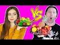 ОБЫЧНАЯ ЕДА ПРОТИВ МАРМЕЛАДА Челлендж Афинка против Эльфика Real Food vs Gummy Food  Эльфинка