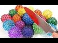 1000 Degree Knife VS Colors Rubber Slime Balls Toy  | Educational Toys